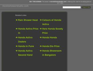 moxieshowerstudio.com screenshot