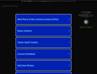 mozartfestival.org screenshot