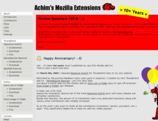 mozext.achimonline.de screenshot