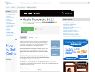 mozilla-thunderbird.updatestar.com screenshot