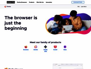 mozilla.com screenshot