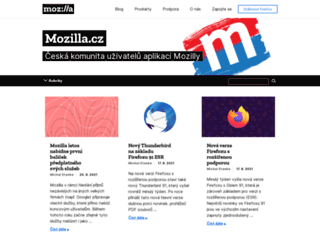 mozilla.cz screenshot