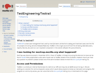 moztrap.mozilla.org screenshot