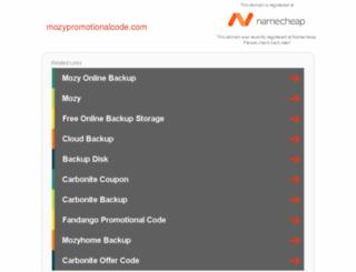 mozypromotionalcode.com screenshot