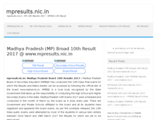 mp10thresults2016.in screenshot