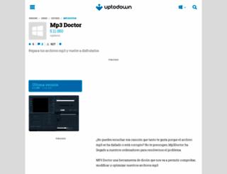 mp3-doctor.uptodown.com screenshot