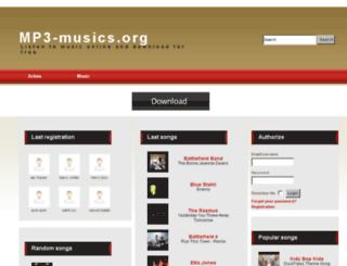 mp3-musics.org screenshot