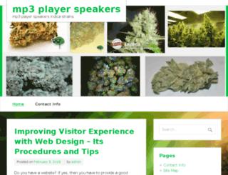 mp3-player-speakers.com screenshot