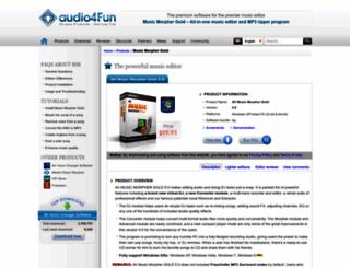mp3-player.audio4fun.com screenshot
