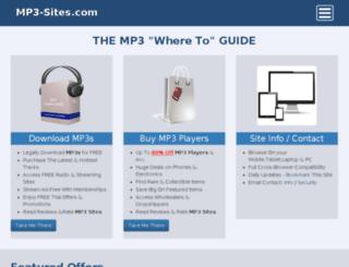mp3-sites.com screenshot