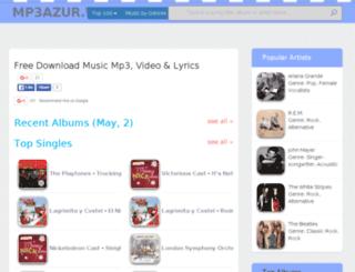 mp3azur.in screenshot