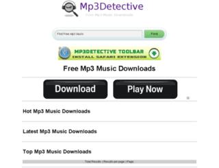mp3detective.com screenshot