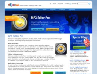 mp3editorpro.com screenshot