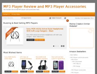 mp3playerreview.org screenshot