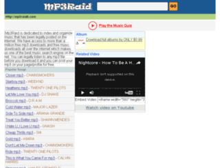 mp3raid.to screenshot