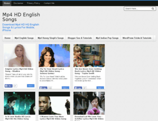 mp4englishsongs.com screenshot