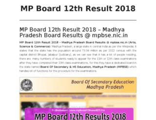 mpboard12thresults2017.in screenshot