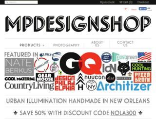 mpdesignshop.com screenshot