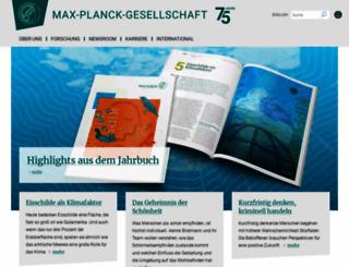 mpg.de screenshot