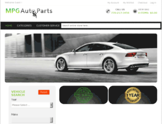 mpgautomotiveparts.com screenshot