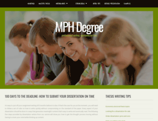 mphdegree.org screenshot