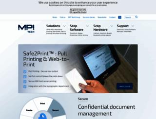 mpitech.com screenshot