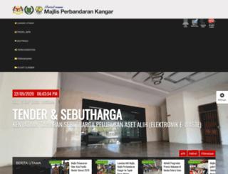 mpkangar.gov.my screenshot