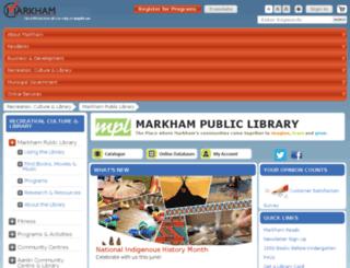 mpl.markham.ca screenshot