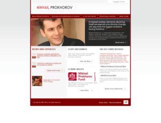 mprokhorov.com screenshot
