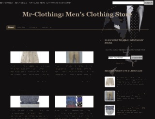 mr-clothing.com screenshot