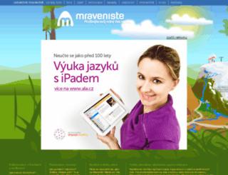 mraveniste.cz screenshot