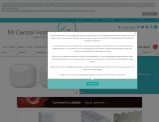 mrcentralheating.com screenshot