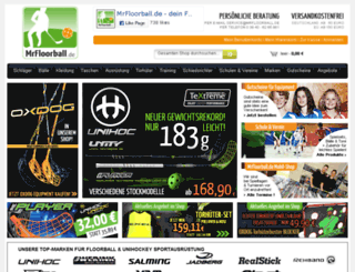 mrfloorball.de screenshot