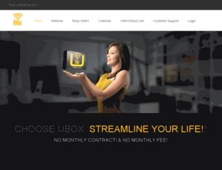 mrg.uboxlive.com screenshot