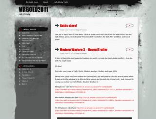 mrgold2011.wordpress.com screenshot