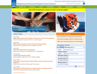 mrhsd.org screenshot