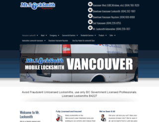 mrlocksmithvancouver.com screenshot