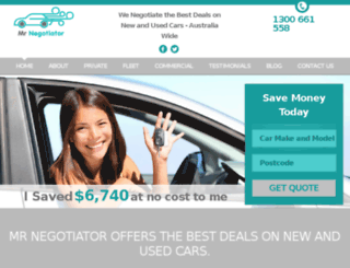 mrnegotiator.com.au screenshot