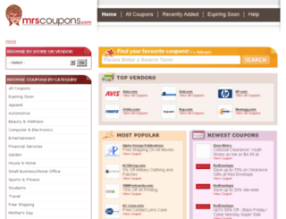 mrscoupons.com screenshot