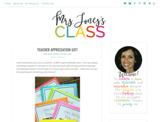 mrsjonessclass.blogspot.com screenshot