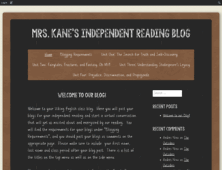 mrskane217.edublogs.org screenshot