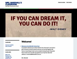 mrsmarshall.org screenshot