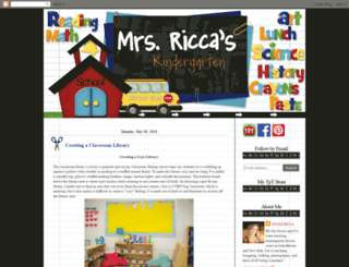 mrsriccaskindergarten.blogspot.com screenshot