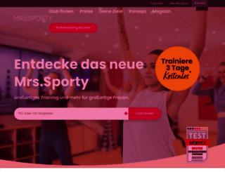 mrssporty.de screenshot