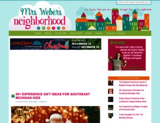 mrswebersneighborhood.com screenshot