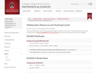 mrtc.uark.edu screenshot