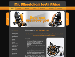 mrwheelchair.co.za screenshot
