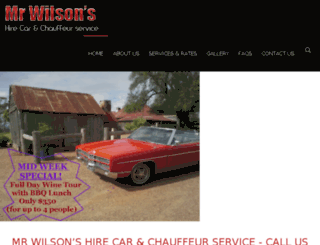 mrwilsonshirecar.com.au screenshot