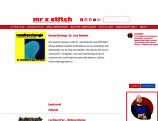 mrxstitch.com screenshot