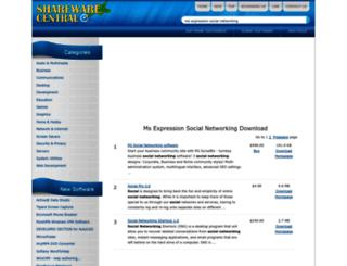 ms-expression-social-networking.sharewarecentral.com screenshot